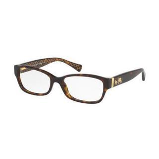 Coach Womens HC6078F 5394 Havana Plastic Rectangle Eyeglasses