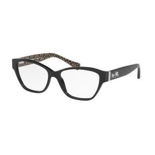 Coach Womens HC6088F 5261 Black Plastic Cat Eye Eyeglasses