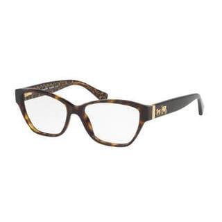 Coach Womens HC6088F 5394 Havana Plastic Cat Eye Eyeglasses