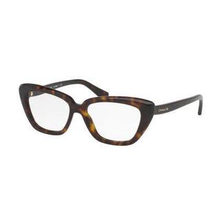 Coach Womens HC6090 5120 Havana Plastic Cat Eye Eyeglasses