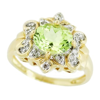 One-of-a-kind Michael Valitutti 18K Oval Chrysoberyl and Diamond ring