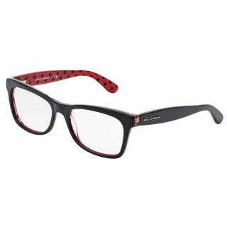 Dolce & Gabbana Womens DG3199 POIS 2871 Black Plastic Rectangle Eyeglasses