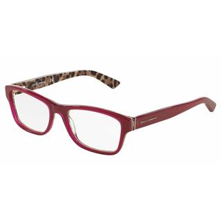 Dolce & Gabbana Womens DG3208 ENCHANTED BEAUTIES 2882 Bordeaux Plastic Rectangle Eyeglasses