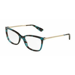Dolce & Gabbana Womens DG3243 2887 Green Plastic Square Eyeglasses