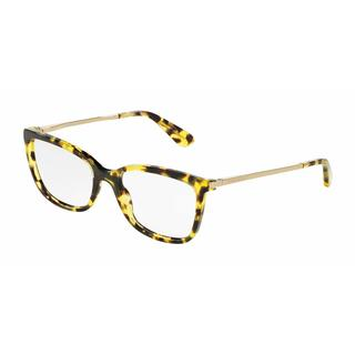 Dolce & Gabbana Womens DG3243 2969 Yellow Plastic Square Eyeglasses
