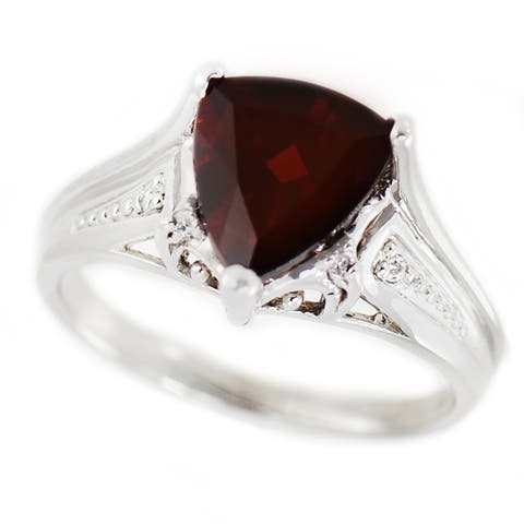 One-of-a-kind Michael Valitutti 14k Trillion Garnet and Diamond Ring