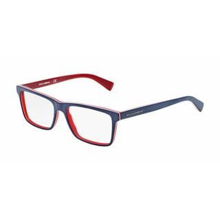 Dolce & Gabbana Mens DG3207 URBAN 1872 Blue Plastic Rectangle Eyeglasses