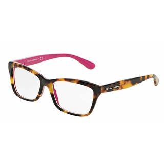 Dolce & Gabbana Womens DG3215 CONTEMPORARY 2892 Havana Plastic Rectangle Eyeglasses