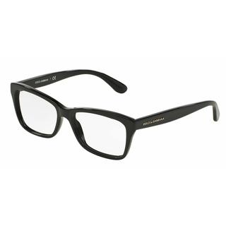 Dolce & Gabbana Womens DG3215 CONTEMPORARY 501 Black Plastic Rectangle Eyeglasses