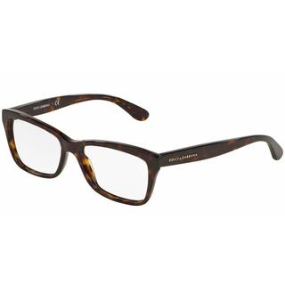 Dolce & Gabbana Womens DG3215 CONTEMPORARY 502 Havana Plastic Rectangle Eyeglasses