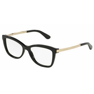 Dolce & Gabbana Womens DG3218 SICILIAN TASTE 501 Black Plastic Cat Eye Eyeglasses