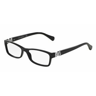 Dolce & Gabbana Womens DG3228 501 Black Plastic Rectangle Eyeglasses
