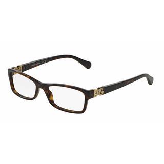 Dolce & Gabbana Womens DG3228 502 Havana Plastic Rectangle Eyeglasses