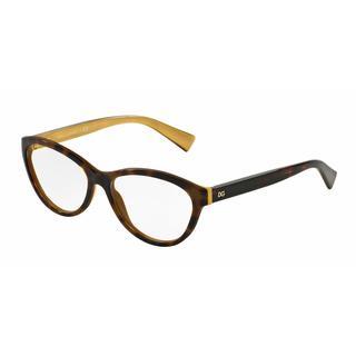 Dolce & Gabbana Womens DG3232 2956 Havana Plastic Cat Eye Eyeglasses