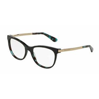 Dolce & Gabbana Womens DG3234F 2887 Blue Plastic Square Eyeglasses