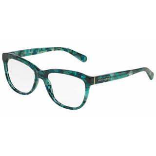 Dolce & Gabbana Womens DG3244 2911 Green Plastic Square Eyeglasses