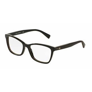 Dolce & Gabbana Womens DG3245 3003 Black Plastic Rectangle Eyeglasses