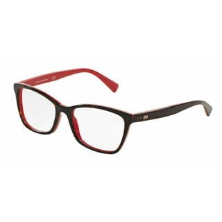 Dolce & Gabbana Womens DG3245 3004 Havana Plastic Rectangle Eyeglasses