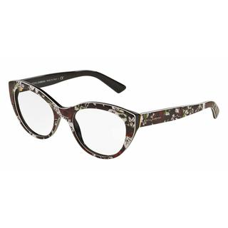 Dolce & Gabbana Womens DG3246 3019 Multi Plastic Cat Eye Eyeglasses