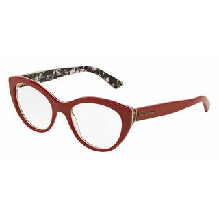 Dolce & Gabbana Womens DG3246F 3020 Red Plastic Cat Eye Eyeglasses