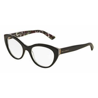 Dolce & Gabbana Womens DG3246F 3021 Black Plastic Cat Eye Eyeglasses