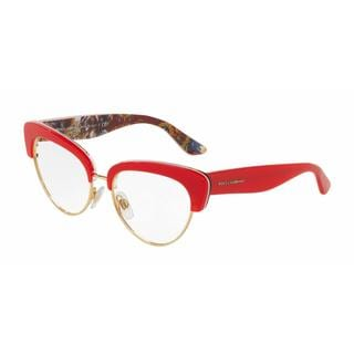 Dolce & Gabbana Womens DG3247 3034 Plastic Cat Eye Eyeglasses