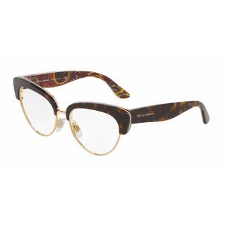 Dolce & Gabbana Womens DG3247 3037 Plastic Cat Eye Eyeglasses