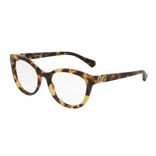 Dolce & Gabbana Womens DG3250F 512 Plastic Cat Eye Eyeglasses