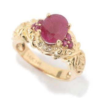 One-of-a-kind Michael Valitutti 14k Ruby and Diamond ring