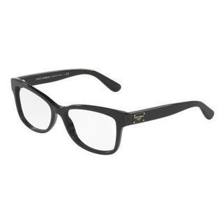 Dolce & Gabbana Womens DG3254F 501 Black Plastic Rectangle Eyeglasses