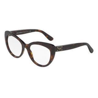 Dolce & Gabbana Womens DG3255 502 Havana Plastic Cat Eye Eyeglasses