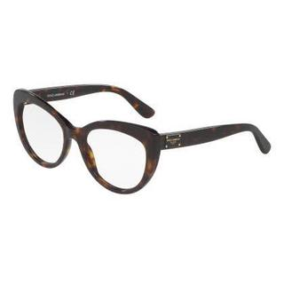 Dolce & Gabbana Womens DG3255F 502 Havana Plastic Cat Eye Eyeglasses