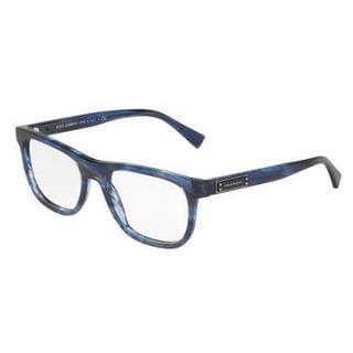 Dolce & Gabbana Mens DG3257 3065 Blue Plastic Square Eyeglasses