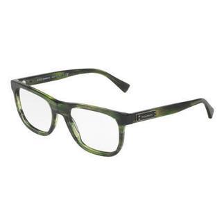 Dolce & Gabbana Mens DG3257 3066 Green Plastic Square Eyeglasses