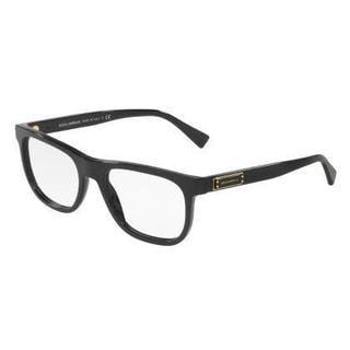 Dolce & Gabbana Mens DG3257F 501 Black Plastic Square Eyeglasses
