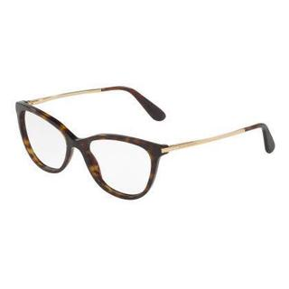 Dolce & Gabbana Womens DG3258F 502 Havana Plastic Rectangle Eyeglasses