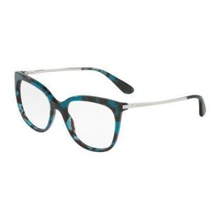 Dolce & Gabbana Womens DG3259 2887 Blue Plastic Square Eyeglasses