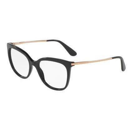 0feabd453f5 Dolce   Gabbana Womens DG3259 501 Black Plastic Square Eyeglasses ...