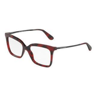 Dolce & Gabbana Womens DG3261 2889 Red Plastic Square Eyeglasses