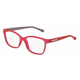 Dolce & Gabbana Womens DG5008 OVER-MOLDED RUBBER 2818 Red Plastic Rectangle Eyeglasses