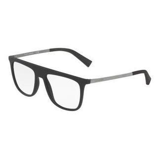Dolce & Gabbana Mens DG5022 2805 Black Plastic Square Eyeglasses