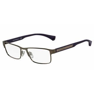 Emporio Armani Mens EA1035 3096 Gunmetal Metal Rectangle Eyeglasses