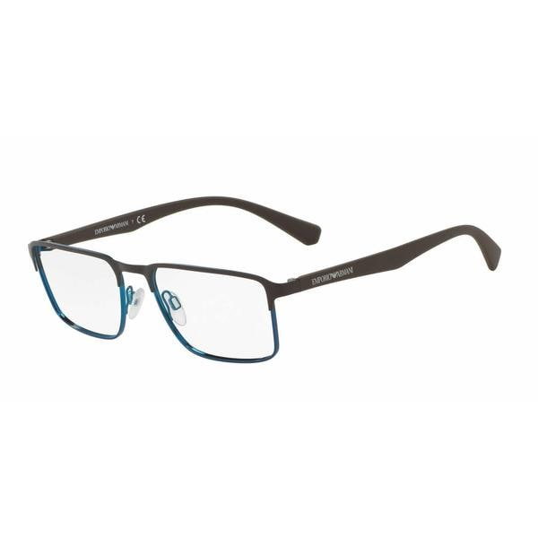 4767b6a11fac Emporio Armani Mens EA1046 3143 Brown Metal Rectangle Eyeglasses