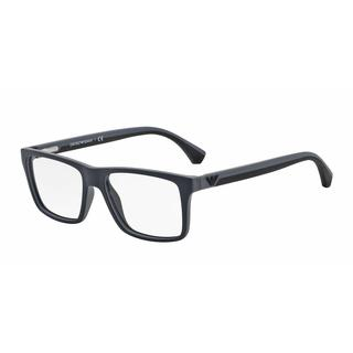 Emporio Armani Mens EA3034 5229 Black Plastic Square Eyeglasses
