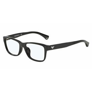 Emporio Armani Womens EA3051F 5017 Black Plastic Square Eyeglasses