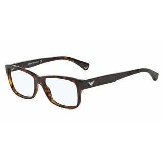 Emporio Armani Womens EA3051F 5026 Havana Plastic Square Eyeglasses