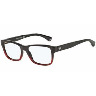 Emporio Armani Womens EA3051F 5348 Bordeaux Plastic Square Eyeglasses