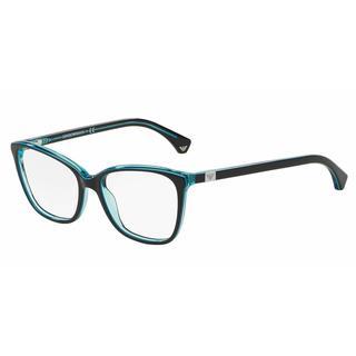 Emporio Armani Womens EA3053 5350 Black Plastic Square Eyeglasses