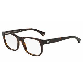 Emporio Armani Mens EA3056F 5026 Havana Plastic Square Eyeglasses
