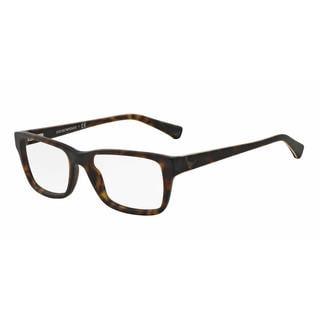 Emporio Armani Mens EA3057F 5026 Havana Plastic Square Eyeglasses